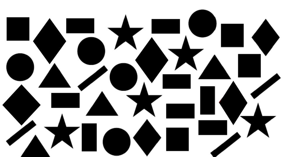 ¿Cuántos rombos y cuadrados ves en la imagen?